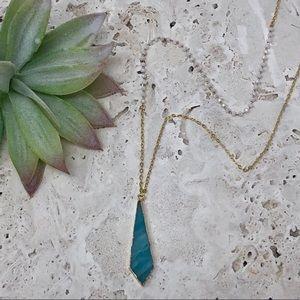 2 LEFT! NEW! Amazonite Rosary Bead Necklace